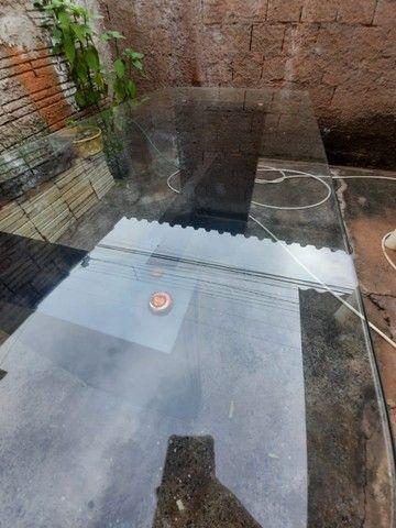 Mesa Tampo de vidro grande R$250 (1,80x0,90)