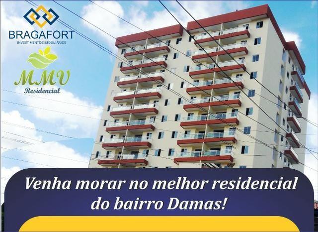 Apartamentos para alugar no Bairro Damas, 03 quartos opções de 01 e 02 vagas de garagem