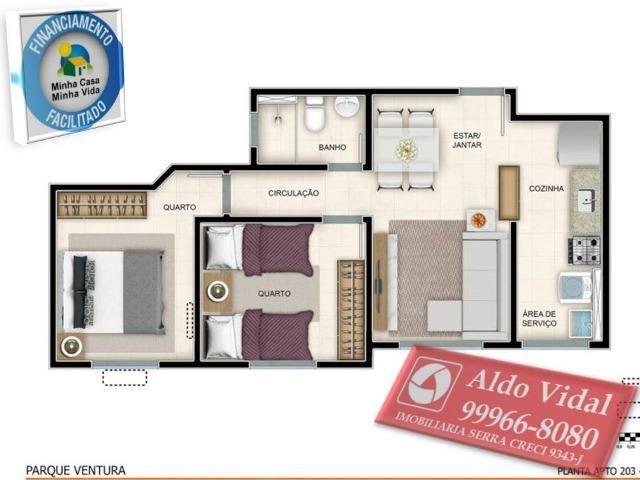 ARV55- Apartamento 01 Qrto P.N.E + E.L.E.V.A.D.O.R + Entrada Facilitada. - Foto 7