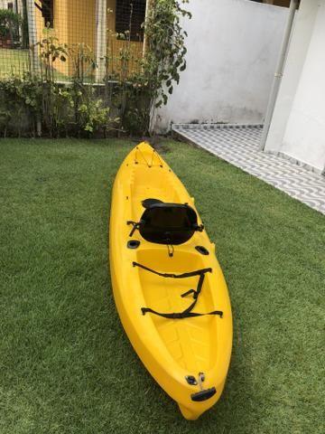 Vendo Caiaque Barracuda junto com vela! - Foto 4