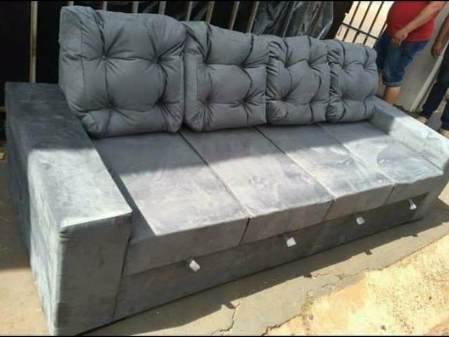 (SUPER PROMOÇÃO) - Sofa C/04 Assentos Retrátil NOVO - Foto 3