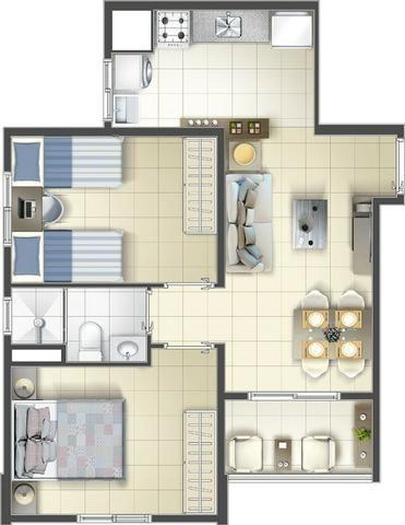 Osasco Presidente Altino MCMV 2 dormitórios 1 Vaga de Garagem Terraço Lazer Completo - Foto 20