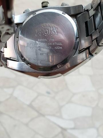 Relógio Orient original prata, aprova de água aço inoxidável