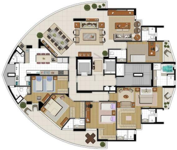 Residencial Bellagio Apto Cobertura Linear de 300m² com 5 Suítes - Foto 4