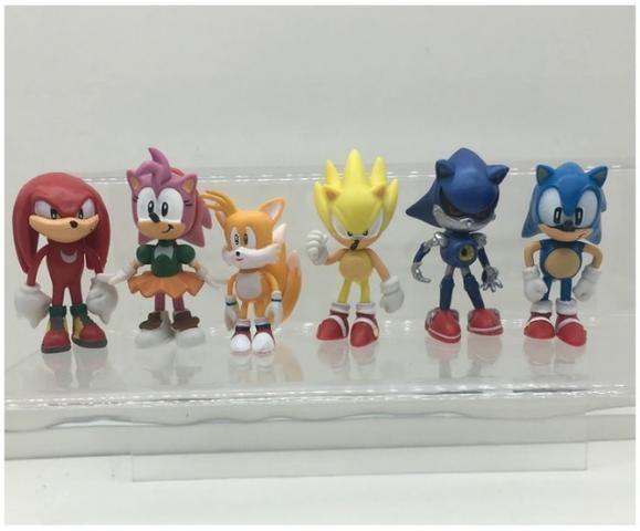 6 Miniaturas Sonic The Hedgehog/ Werehog Tails Mega Drive - Foto 5