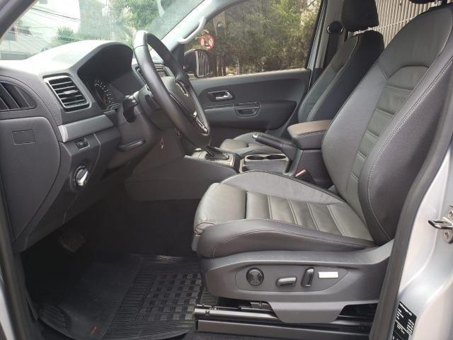 VW- amarok v6 Highline 3.0 4x4 18/18 aut. diesel prata - Foto 7