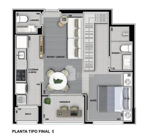 Apartamento 01 suíte e 01 vaga no Boa Vista, Curitiba - Foto 12