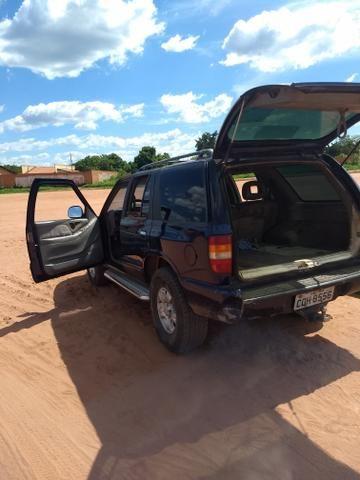 Vendo Blazer S10 Dlx, cor azul, Ano 97/98 turbo diesel 4x2 - Foto 9