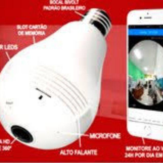 Super Câmera Lâmpada 3D Inteligente 360º - Foto 2