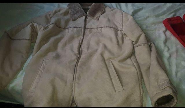 Jaqueta de camurça forrada  com  pele - Foto 6