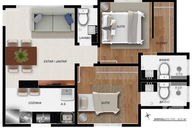 Apartamento à venda com 2 dormitórios em Santa efigênia, Belo horizonte cod:271028 - Foto 3