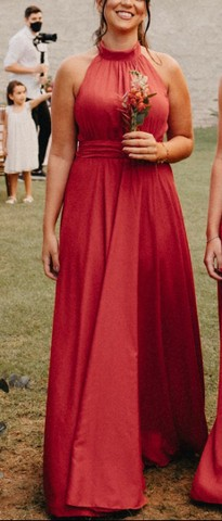 Vestido de festa 42 cor: Terracota - Foto 4