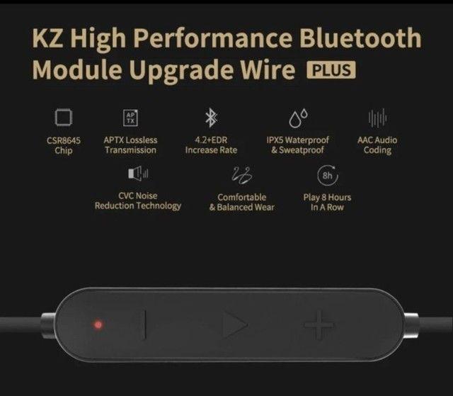 Adaptador bluetooth para fone de ouvido KZ conector tipo C - Foto 2