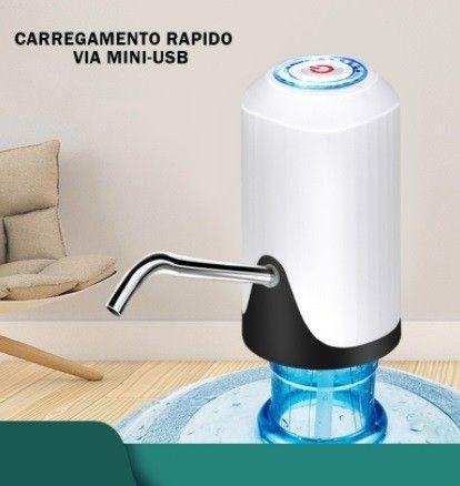 Bomba Elétrica De Galão Universal Com Carregamento USB Para Galão/Garrafão De Água