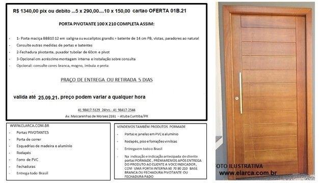 oferta 01b 21 porta pivotante 100 210 mad maciça completa R$ 1340,00
