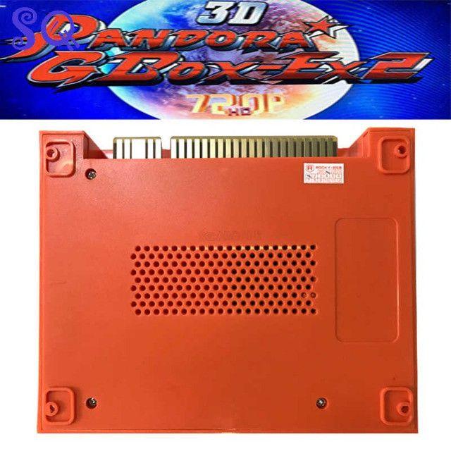 Pandora 3d gbox-ex2 4300 em 1 jogo arcade cartucho jamma pcb 720p vga + hdmi entrada usb - Foto 2