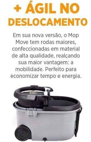 Mop Top Premium Balde 16L Centrifuga Inox Cabo 1,60m reforçado 3 tipos de refis - Foto 5