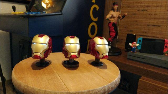 Capacete Iron man Metal Diecast. Homem de Ferro em Metal. - Foto 3