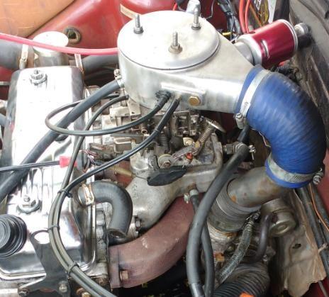 Admissão 2e para motor CHT com carburador e mufla