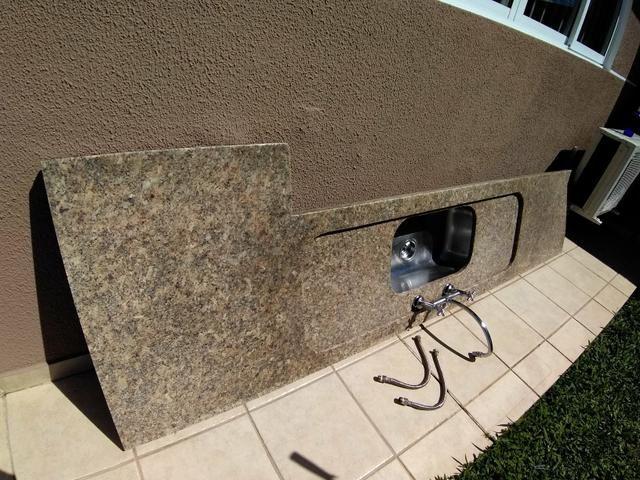 Pedra granito bancada cozinha - Foto 2