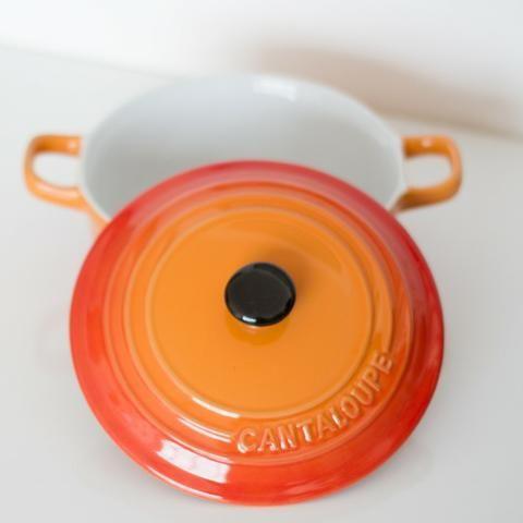 Panela Cantaloupe, tipo Le Creuset (usada) - Foto 2