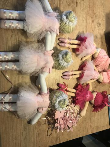 Boneca bailarina festa infantil rosa