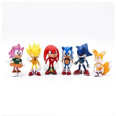 6 Miniaturas Sonic The Hedgehog/ Werehog Tails Mega Drive - Foto 2