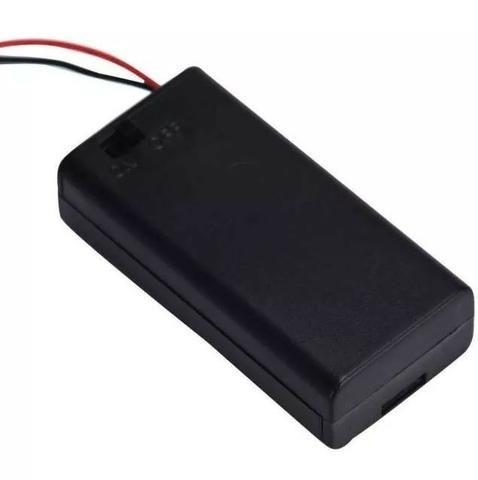 COD-CP144 Caixa Case Suporte P/ 2 Pilhas Aa Com Chave On/off Arduino Automação Robotica - Foto 2