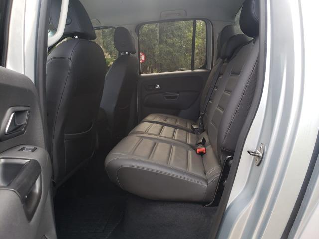 VW- amarok v6 Highline 3.0 4x4 18/18 aut. diesel prata - Foto 8