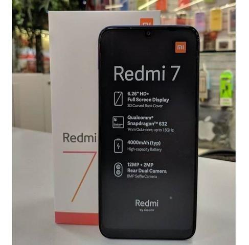Redmi 7 32GB e 64 GB Preto / Azul, Zero Lacrado Versao Global