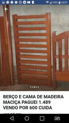 Urgente Berço que vira cama madeira maciça top baxei o preço
