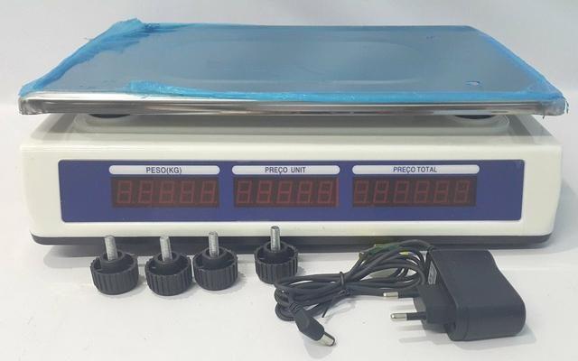 Balança Eletrônica Digital 40kg Visor Duplo Alta Precisão Completa (NOVA) ACEITA CARTÃO - Foto 3