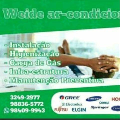 Instalação de ar condicionado R$220