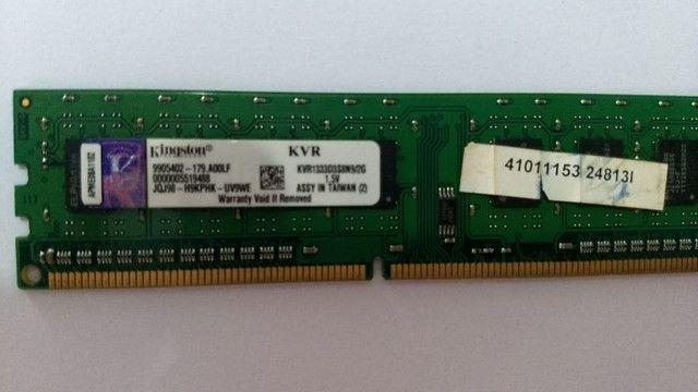Memória 2GB ddr3 Kingston KVR1333D3N92G