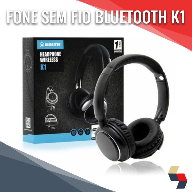 Fone sem fio Bluetooth Headphone