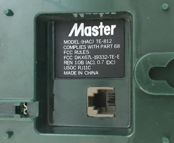 Telefone Master Antigo, Tone ou Pulse, Vintage, Funcionando - Foto 3