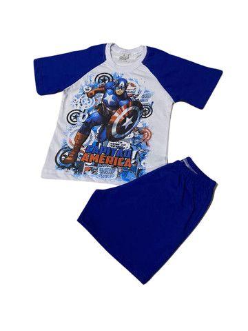 Pijama Infantil Capitão América - Calor - Foto 4