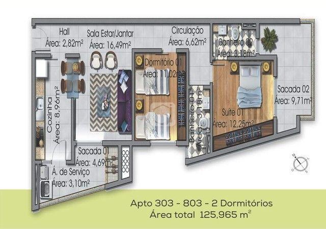 Apartamento à venda com 2 dormitórios em Nossa senhora medianeira, Santa maria cod:83724 - Foto 5