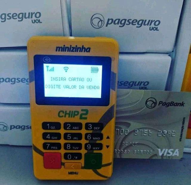 Minizinhas Chip e Wifi. Não precisa de celular. Máquinas de cartão novas-lacradas  - Foto 5