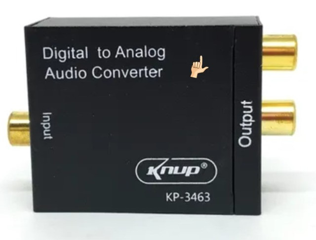 Conversor Áudio Digital Para Analógico Rca Knup Kp-3463 - Foto 2