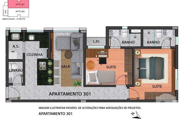 Apartamento à venda com 2 dormitórios em Anchieta, Belo horizonte cod:280097 - Foto 5