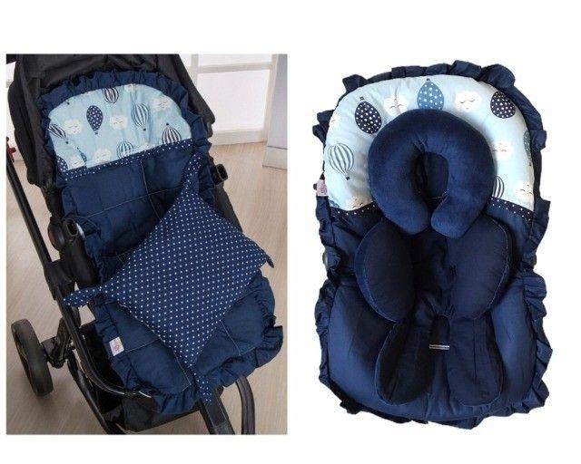 Capa carrinho + bebe conforto + tapete - Foto 3