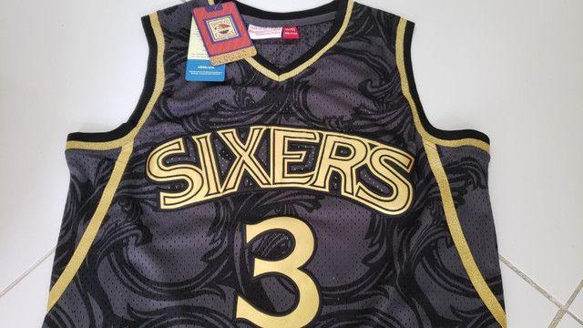 Camisa NBA retrô classics_Philladelphia Sixers nr 3 Iverson tamanho P - Foto 3