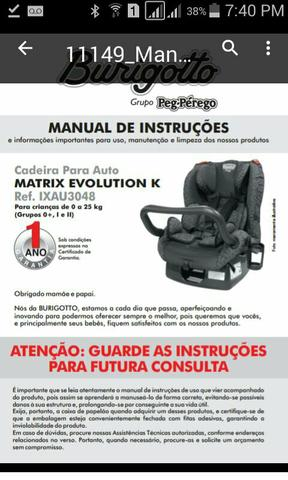 Cadeira Matrix Evolution