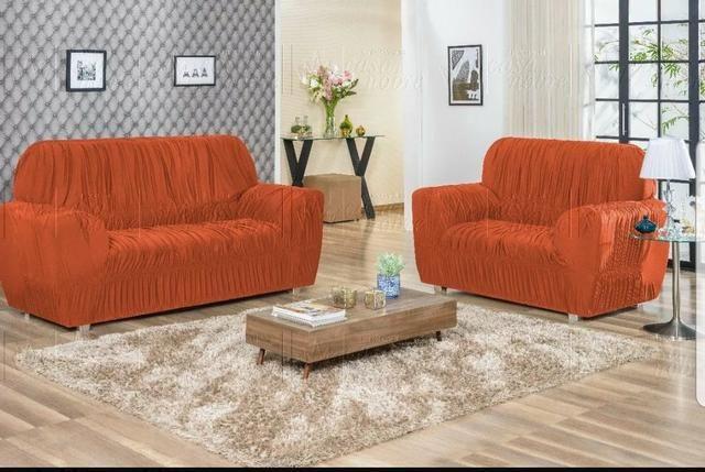 Capas de sofá 3 e 2 lugares