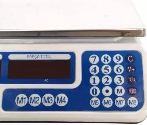 Balança Eletrônica Digital 40kg Visor Duplo Alta Precisão Completa (NOVA) ACEITA CARTÃO - Foto 2