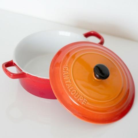 Panela Cantaloupe, tipo Le Creuset (usada) - Foto 4