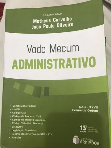 Vade Mecum, Administrativo - Matheus Carvalho - OAB