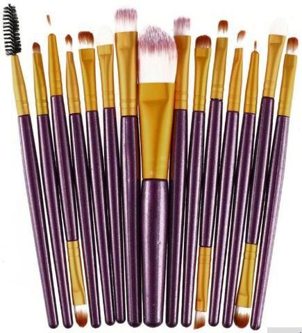 Kit com 15 Pincéis para Maquiagem Profissional 30 Reais - Foto 2