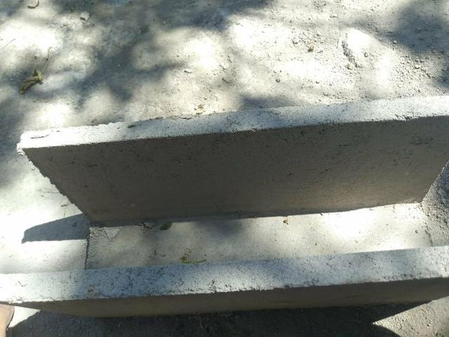 Calha de cimento | bloco de cimento